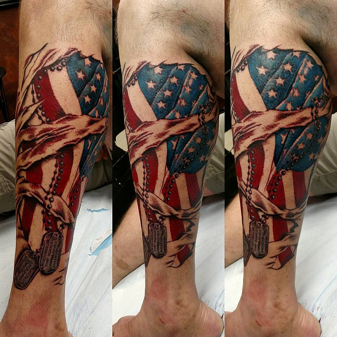 85 Best Patriotic American Flag Tattoos — I Love Usa 2019 Ideas And Designs