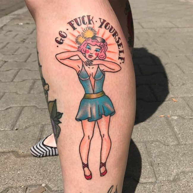 90 Best Pinup Tattoo Girl Designs Meanings Add Style Ideas And Designs