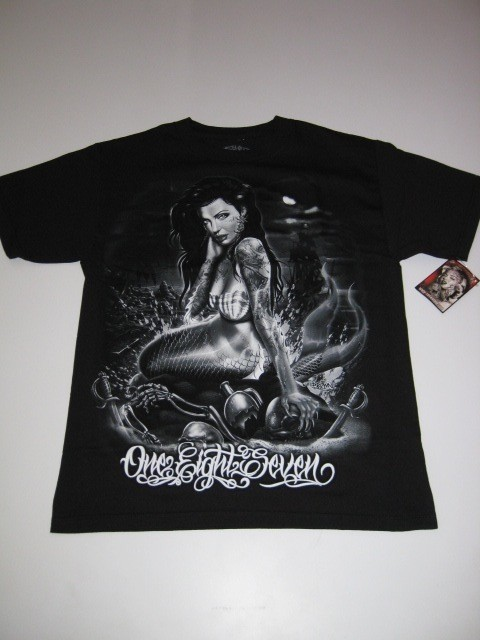 Mermaid Tattoo Black 187 Inc Shirt Tee Ufc Ss Short Sleeve Ideas And Designs