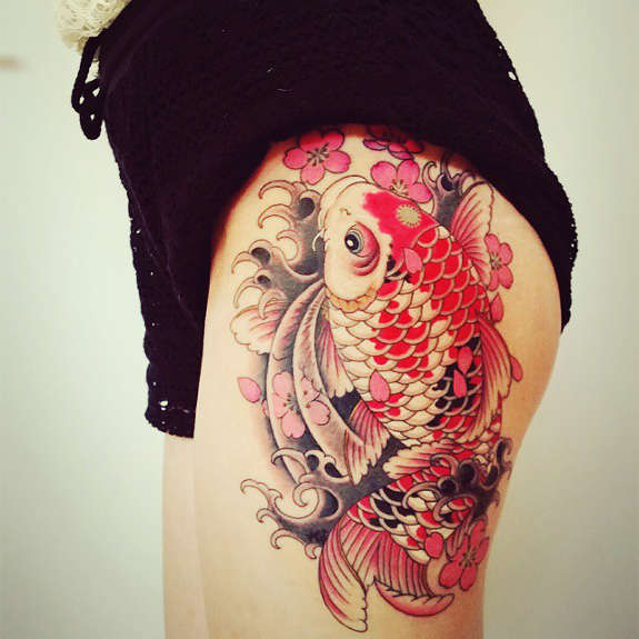 A Tale Of Strength And Perseverance Koi Tattoo Rejects Ideas And Designs