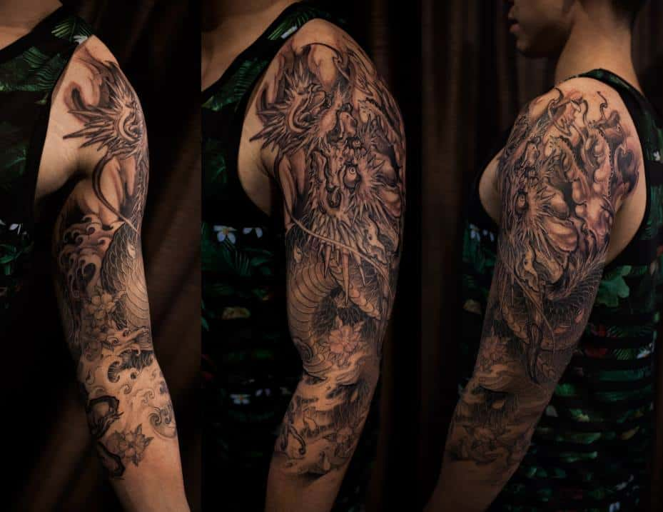 3 4 Sleeve Dragon Tattoo Chronic Ink Ideas And Designs