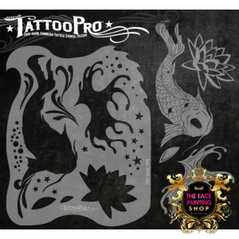 Airbrush Tattoo Pro Stencil Koi Ideas And Designs