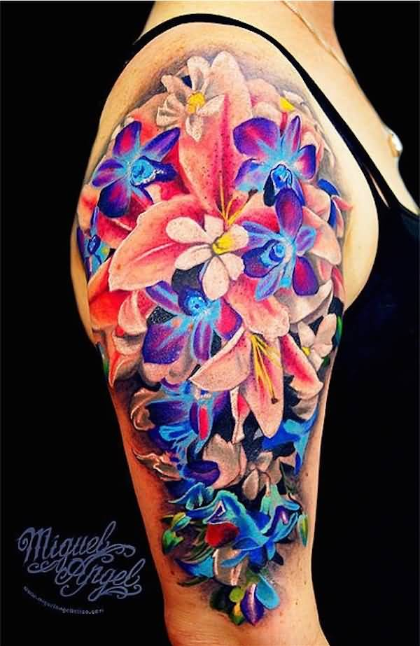 3D Flower Tattoo Ideas And 3D Flower Tattoo Designs Page 3 Ideas And Designs