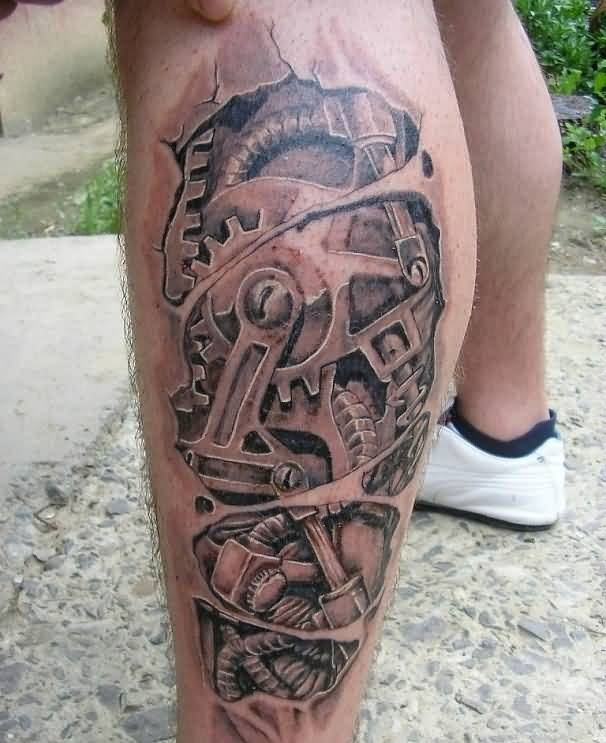 Biomechanical Leg Tattoos Images Pictures Tattoos Hunter Ideas And Designs