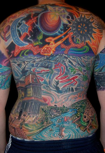 Chuck S Back Tattoo By Marvin Silva Tattoos Ideas And Designs