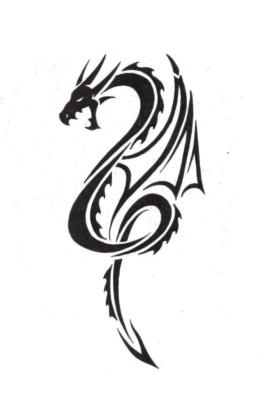 Awesome Tribal Dragon Tattoo Designs Yo Tattoo Ideas And Designs
