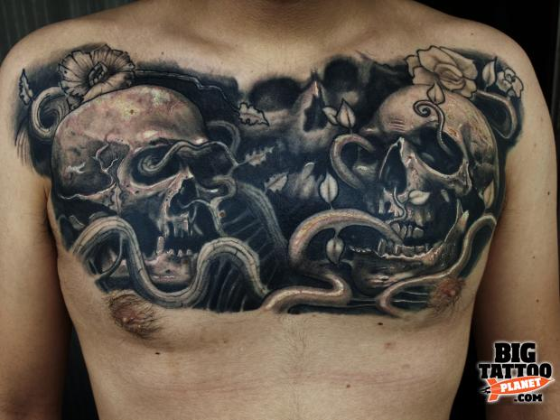 Fat Black And Grey Tattoo Big Tattoo Planet Ideas And Designs