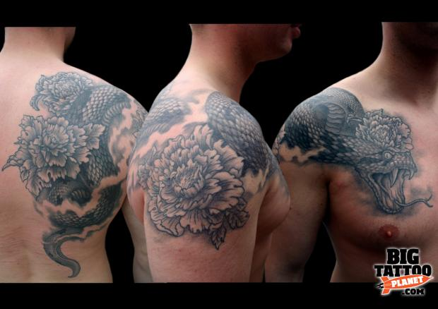 Jin O Black And Grey Tattoo Big Tattoo Planet Ideas And Designs