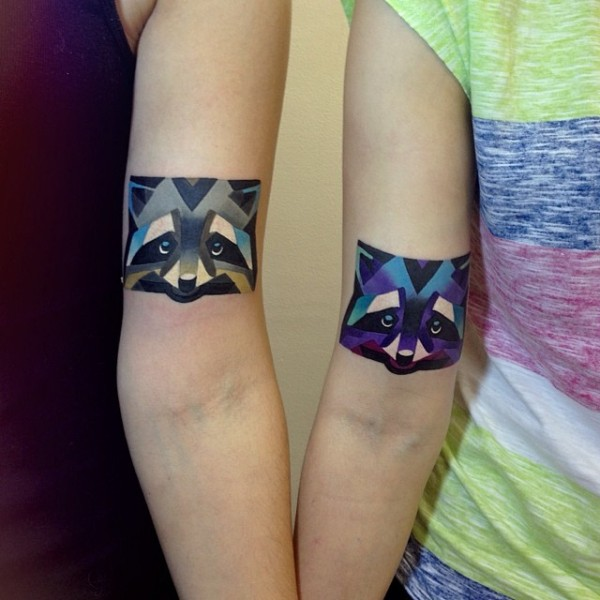 Unique Colorful 3 Dimensional Tattoos Of Animals Ideas And Designs