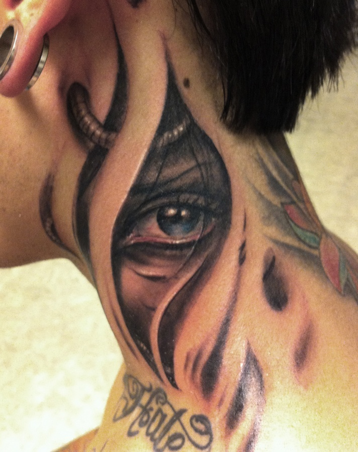 34 Beautiful Neck Tattoo Inspirations Godfather Ideas And Designs