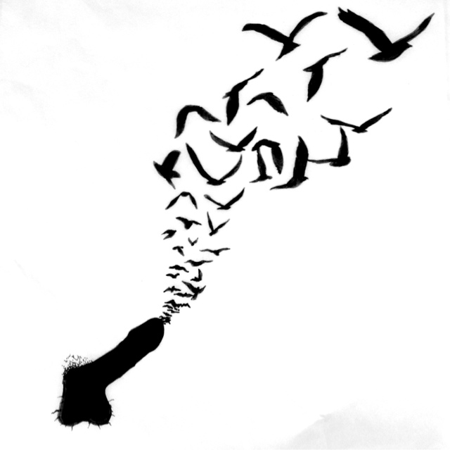 Feather Bird Silhouette Tattoo At Getdrawings Com Free Ideas And Designs