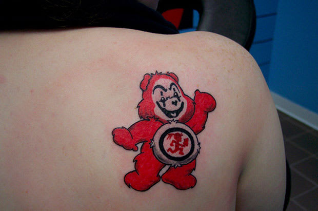 Look At This Care Bear Juggalo Tattoo Complex Ideas And Designs