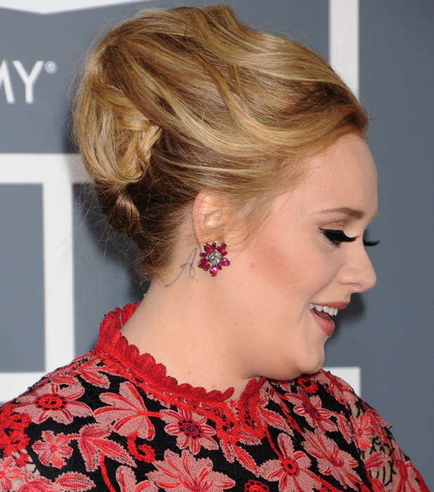 Adele Shows Off A Tattoo For Son Angelo At The Grammy Ideas And Designs