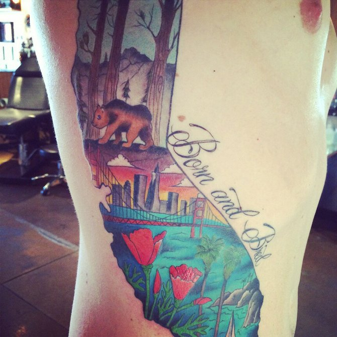 This Is My Cali Tat I Was Born And Raised In The Golden Ideas And Designs