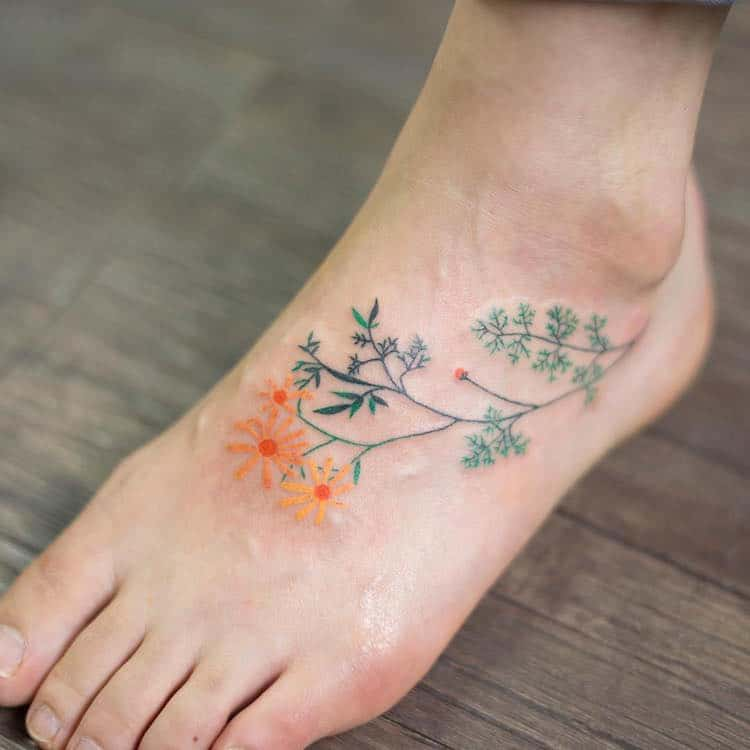 Delicate Tattoos By Zihee Colorfully Adorn The Skin With Ideas And Designs