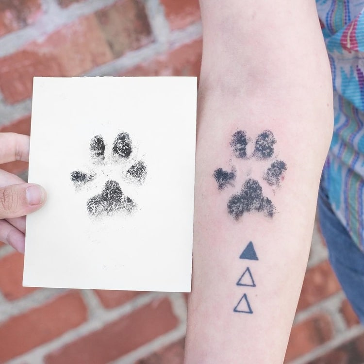 People Are Branding Themselves With Dog Paw Tattoos Ideas And Designs