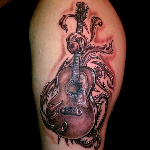 60 Inspirational Guitar Tattoos Nenuno Creative Ideas And Designs