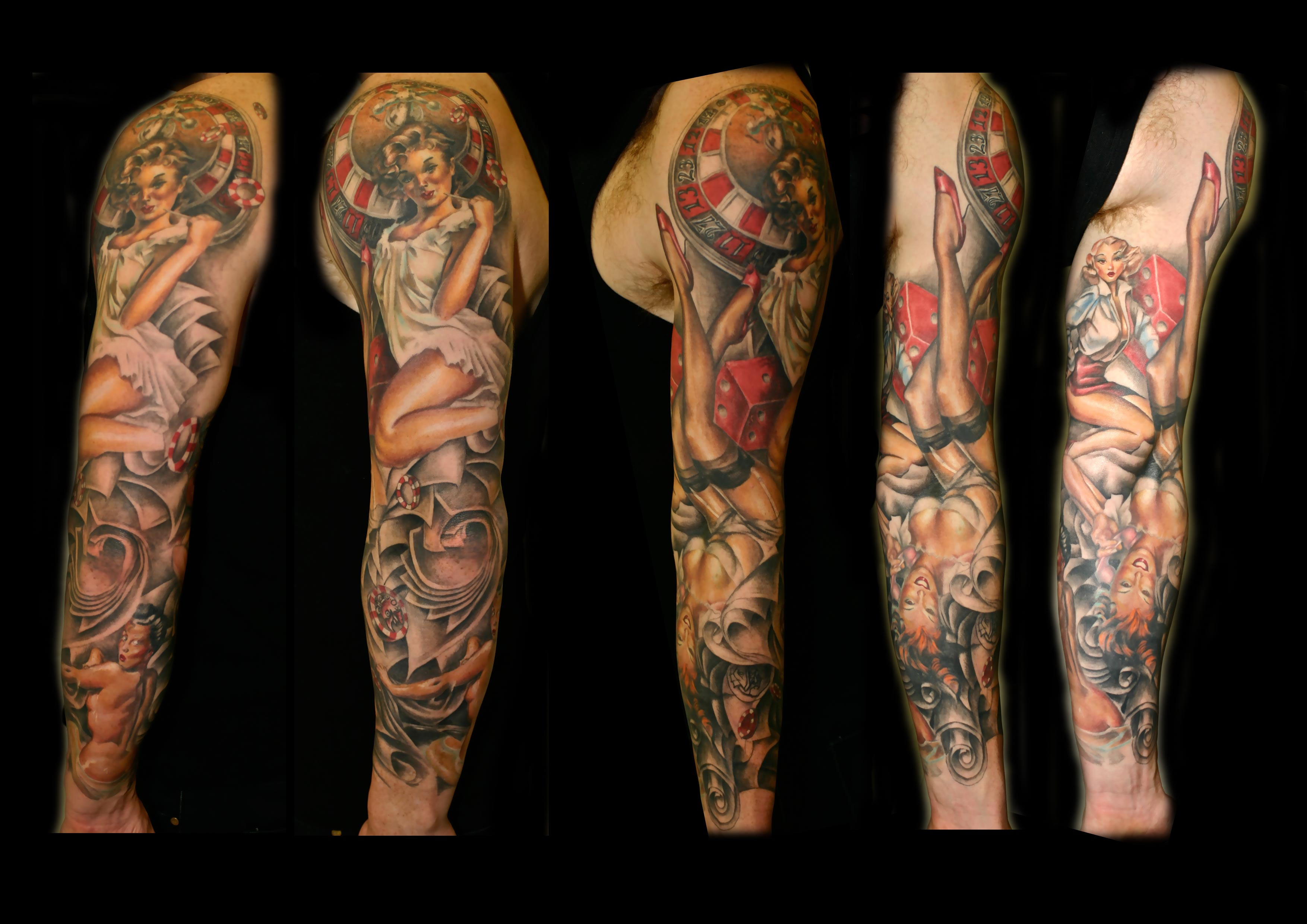 Pinup Sleeve By Lhpandy On Deviantart Ideas And Designs