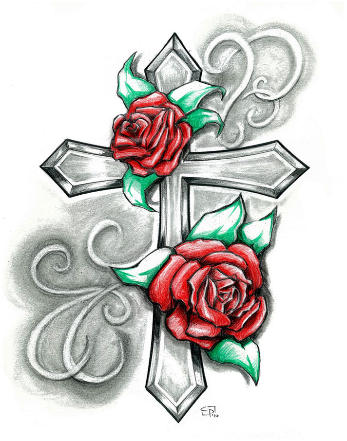 Rose Cross By Elguapo6 On Deviantart Ideas And Designs