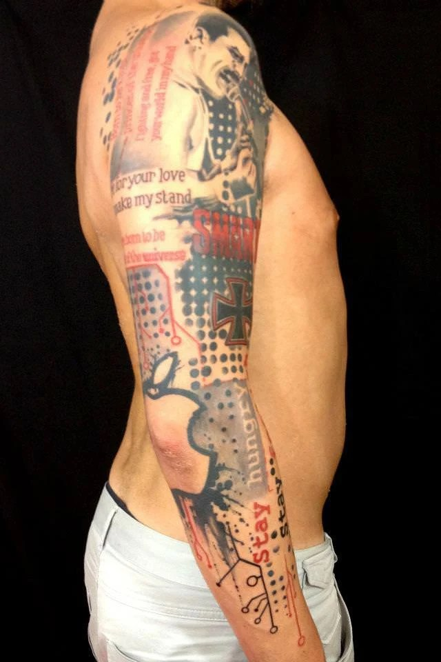 Artistic Abstract And Graphics Tattoos By Pietro Romano Ideas And Designs