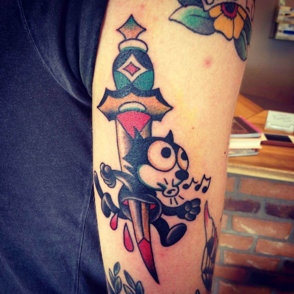 Felix The Cat Is Stabbed Through By A Dagger In This Ideas And Designs