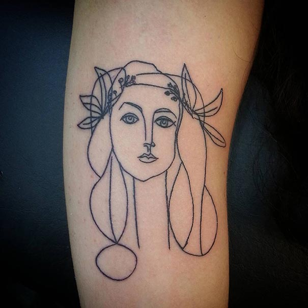 15 Picasso Inspired Tattoo Ideas For Art L*V*Rs Bored Panda Ideas And Designs