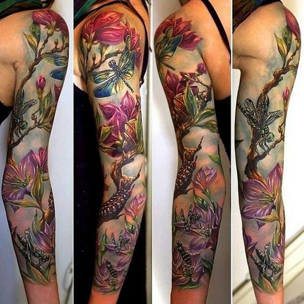 40 Cool And Pretty Sleeve Tattoo Designs For Women Ideas And Designs