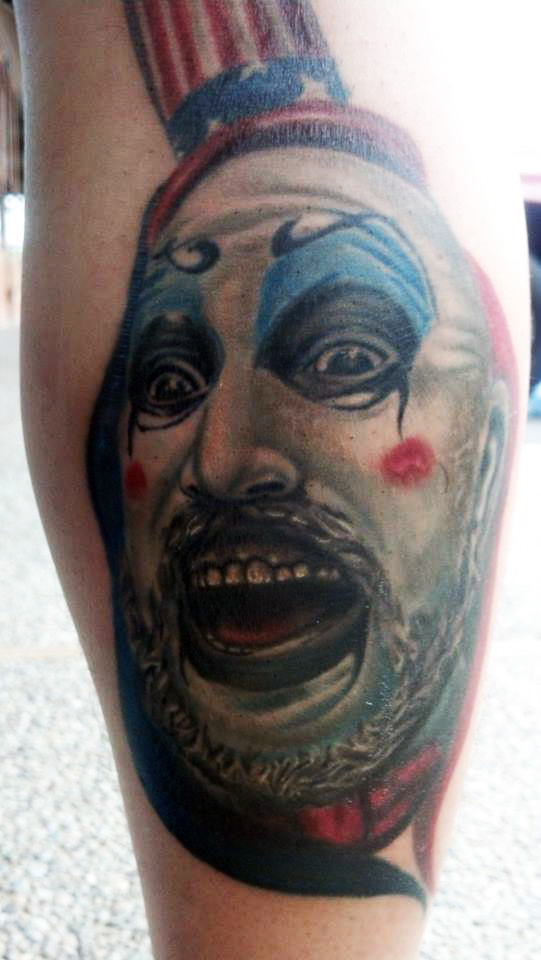 Captain Spaulding Portrait Tattoo On Behance Ideas And Designs