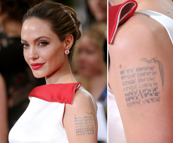 Angelina Jolie Has The Geographical Coordinates Of Each Of Ideas And Designs
