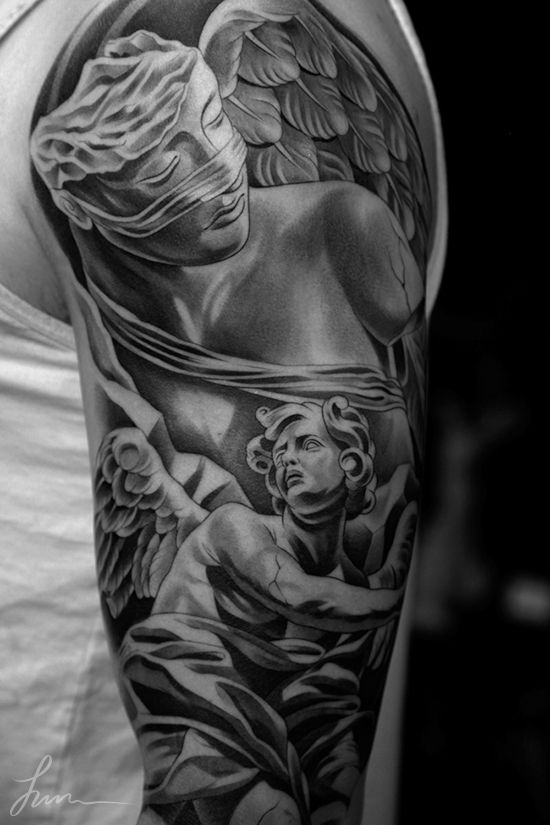Sick Angel Statue Tattoo How Terrible It Is To Love Ideas And Designs