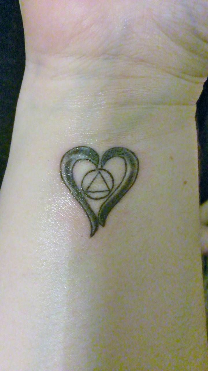 Recovery Tattoo Alcoholics Anonymous Tattoos Pinterest Ideas And Designs