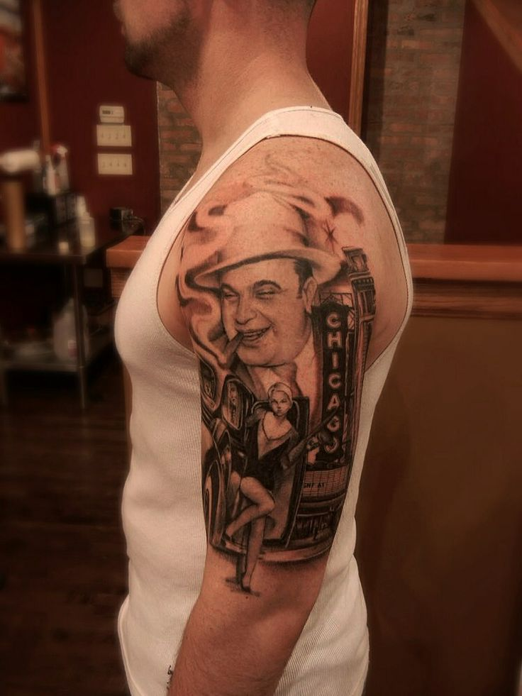 Al Capone Chicago My Tattoo Portfolio Pinterest Ideas And Designs