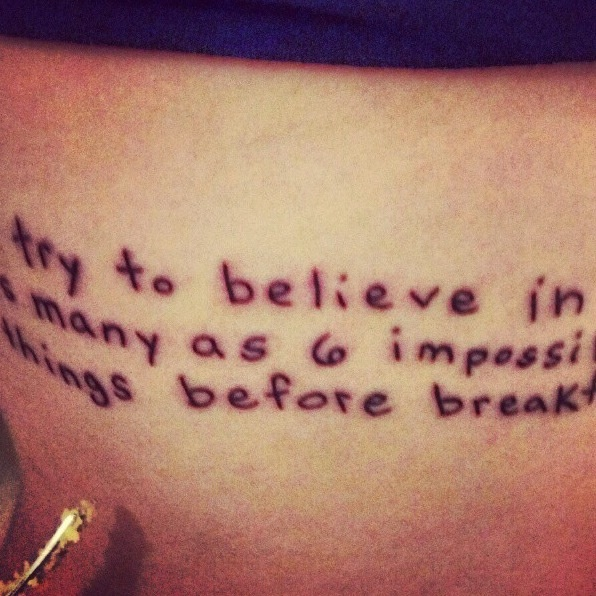 Alice In Wonderland Quote Tattoo Tattoos Pinterest Ideas And Designs
