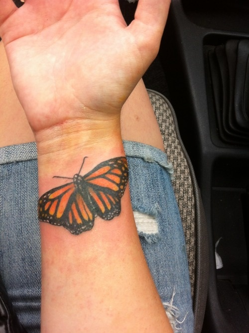 Monarch Butterfly Idea On Wrist Realistic 3D Butterfly Ideas And Designs