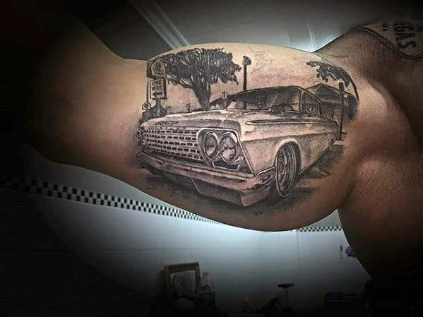60 Chevy Tattoos For Men Cool Chevrolet Design Ideas Ideas And Designs
