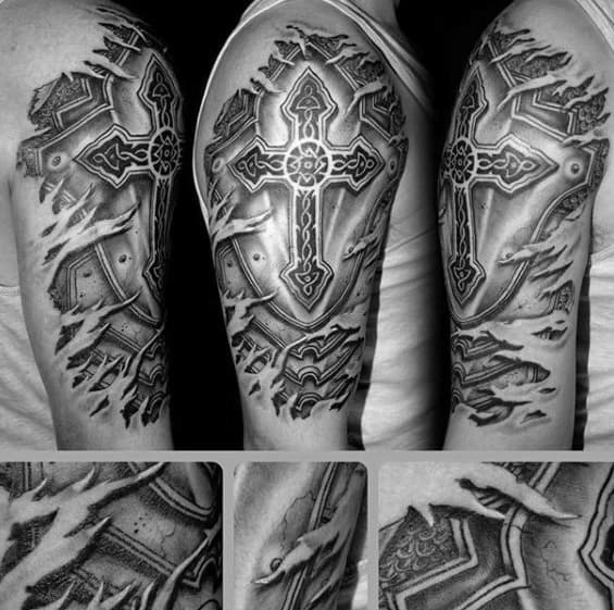 50 Badass Cross Tattoos For Men Manly Design Ideas Ideas And Designs