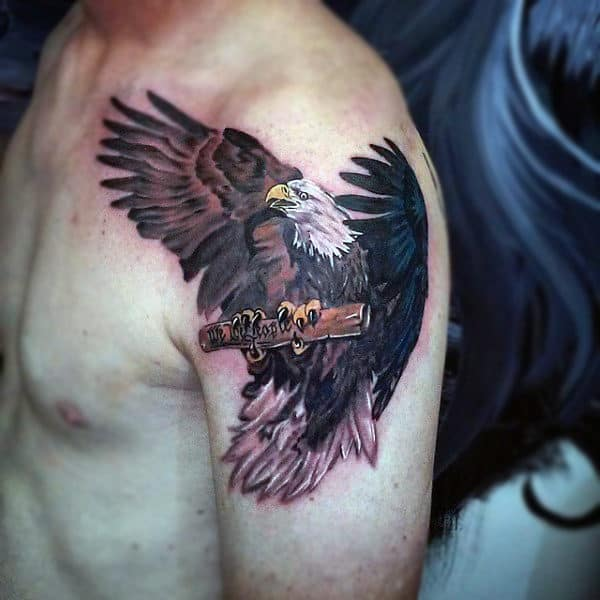 90 Bald Eagle Tattoo Designs For Men Ideas That Soar High Ideas And Designs
