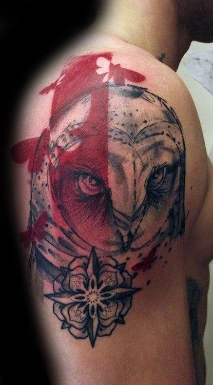 60 Barn Owl Tattoo Designs For Men Lunar Creature Ink Ideas Ideas And Designs