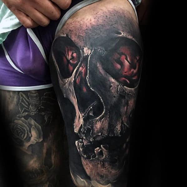 50 3D Skull Tattoo Designs For Men Cool Cranium Ink Ideas Ideas And Designs