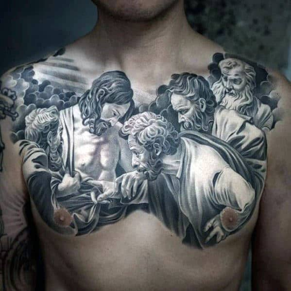 40 Jesus Chest Tattoo Designs For Men Chris Ink Ideas Ideas And Designs
