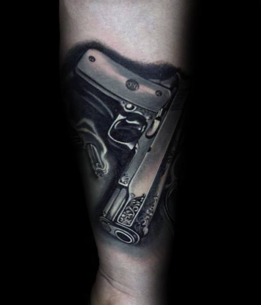 50 1911 Tattoo Ideas For Men Handgun Designs Ideas And Designs
