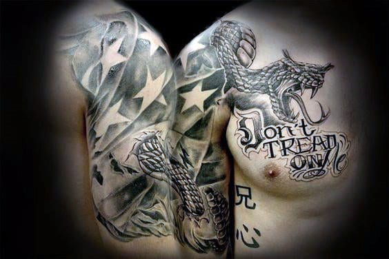40 Dont Tread On Me Tattoo Designs For Men Liberty Ink Ideas And Designs