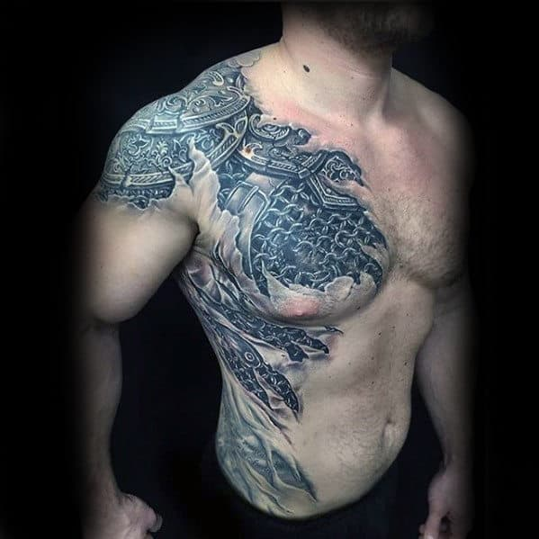 40 3D Chest Tattoo Designs For Men Manly Ink Ideas Ideas And Designs