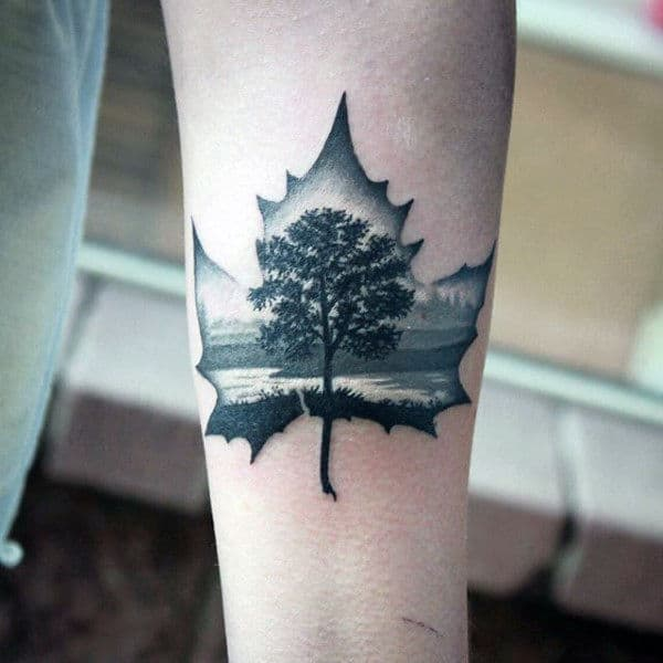 60 Leaf Tattoo Designs For Men The Delicate Stages Of Life Ideas And Designs