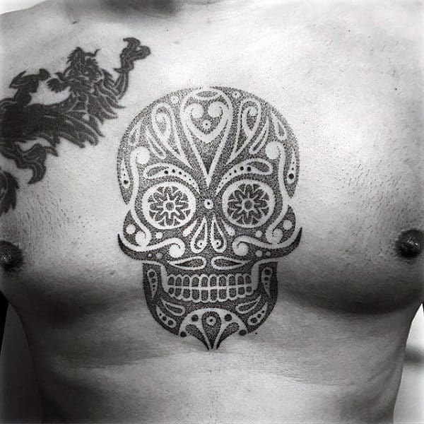 100 Sugar Skull Tattoo Designs For Men Cool Calavera Ink Ideas And Designs