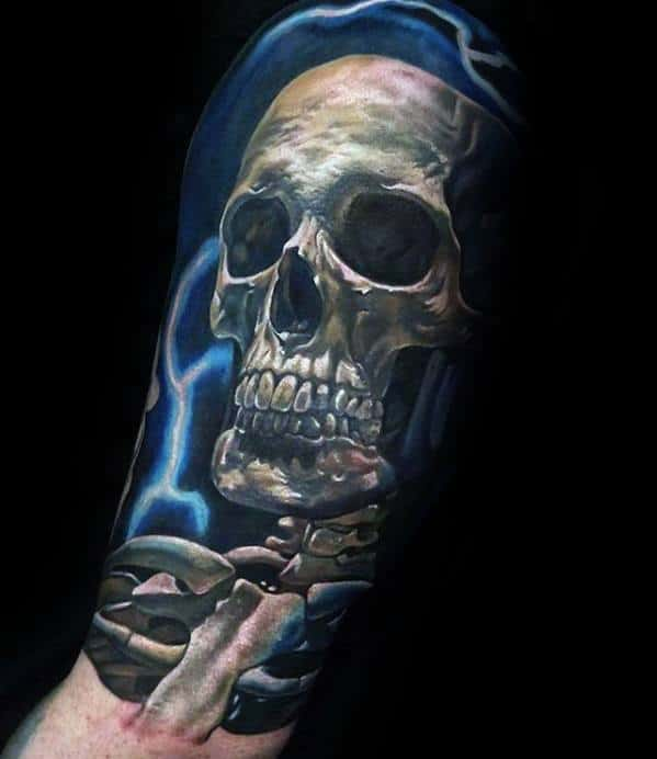 50 Unique Skull Tattoos For Men Manly Ink Design Ideas Ideas And Designs