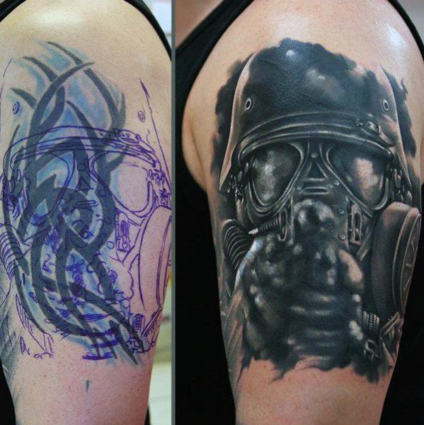 60 Tattoo Cover Up Ideas For Men Before And After Designs Ideas And Designs