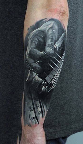 100 Music Tattoos For Men Manly Designs With Harmony Ideas And Designs