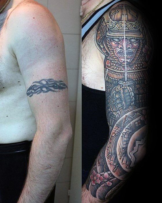 50 Tattoo Cover Up Sleeve Design Ideas For Men Manly Ink Ideas And Designs