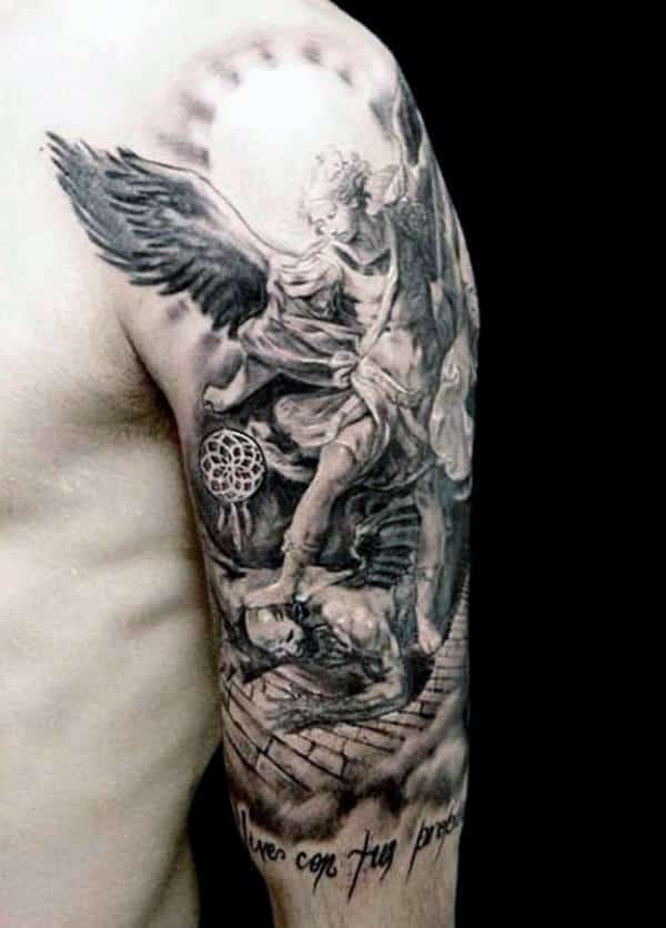 75 Remarkable Angel Tattoos For Men Ink Ideas With Wings Ideas And Designs